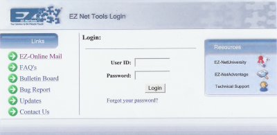 EZ-Net Tools Login Page